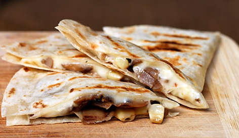 Campfire Chicken Quesadillas