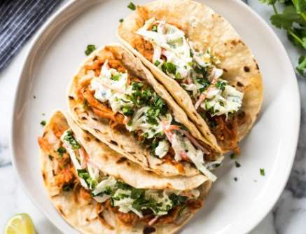 Spicy Cajun Pulled Pork Tacos